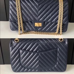Chanel engraved 226 blue  bags